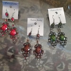 3 pairs of Fashion earrings
